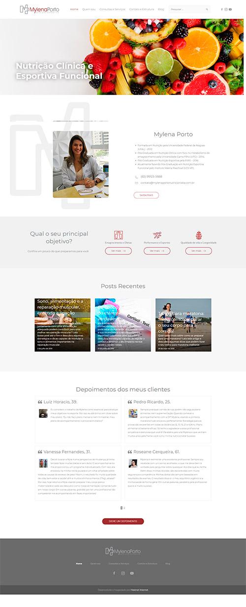 H2 Digital - site mylenaportonutricionista